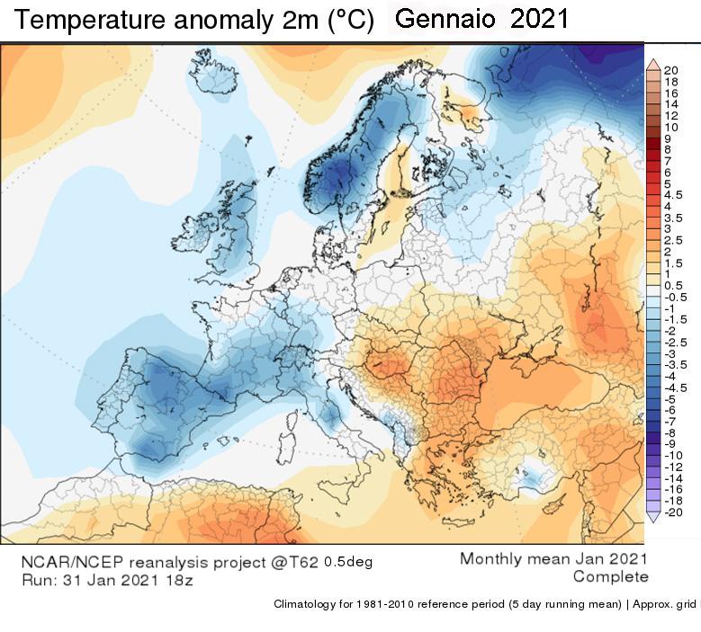 grafico ultimi 32 anni temperature
